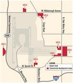 Land near busy airport terminal fertile for leasing