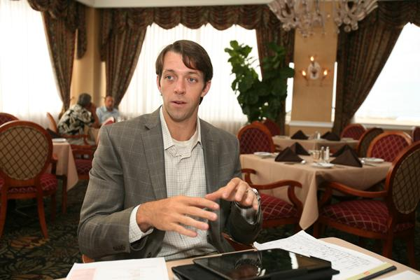 Advanced Healthcare Partners' Jimmy St. Louis, CEO at a business meeting.