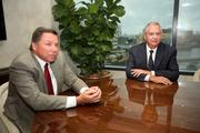 Ken Cherven, new Pinellas County president and Bill West, bank president.