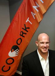 Sean Davis, CEO of Red Hawk Interactive, a tech entrepreneur who attended BarCamp and was one of the organizers. He is at CoWork Tampa, a co-working space and business lounge that supports the entrepreneurial community in Tampa Bay.