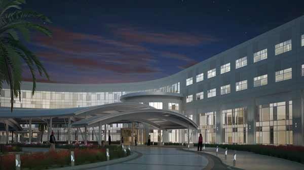 Rendering of St. Joseph's Hospital-South