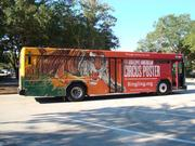 Full advertising wrap on a PSTA bus