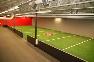 Indoor training field at D1 facility in Citrus Park.