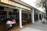 Patrons eating at Farrell's on the Island in the Davis Island downtown shopping district