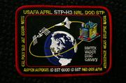 Upcoming mission patch for the April 29 space shuttle mission. Eclipse's name is on the right.