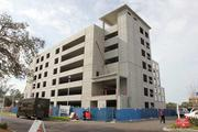 A parking garage under construction at St. Anthony's Hospital's new Suncoast Medical Clinic.