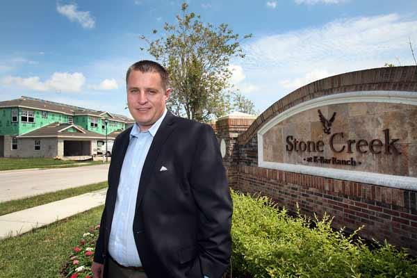 Brad van Rooyen, partner at Home Encounter, at Stone Creek homes in K-Bar Ranch, one of the locations his company manages in New Tampa.