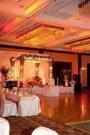"A ""mandap"" set up for an Indian wedding at the Hyatt Regency Tampa."