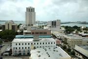 KnowBe4's view of downtown Clearwater and Clearwater Beach.