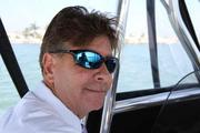 Travis Palladeno, mayor of the City of Madeira Beach, on his fishing boat.