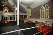 The sanctuary of St. Paul AME church has been converted into a recreational area for small kids and teenagers.