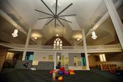 The sanctuary of St. Paul's AME church has been converted into a recreational area for small kids and teenagers.