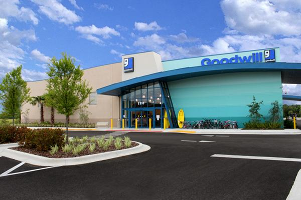 The average construction cost for a Goodwill superstore is $1.5 million. Pictured is the Wesley Chapel superstore, which opened in January 2010.