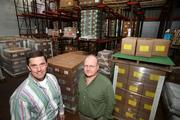 PACA Foods' Michael Shepardson, president and CEO, and Bob Cabral, food scientist, in the warehouse.