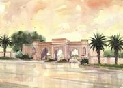 A rendering of the 17-acre estate's front gate in Carrollwood.