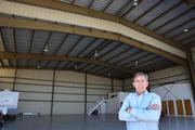 NAFCO and plane hangar at 3907 Aero Place in Lakeland. David Madden, national sales manager with NAFCO at hangar.