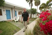 Patrick Brophy, general manager, on the property at Postcard Inn On The Beach at St. Pete Beach.