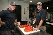 Mo'Ziki, Greek-inspired restaurant in Largo. Geoff Brown, partner and Josh Bowles, partner in their restaurant.