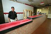 Albert Perez, co-owner and founder, at Mr. Empanada's first Pinellas location on fourth St. North in St. Petersburg, due to open in August.