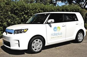 A RidePlus vehicle