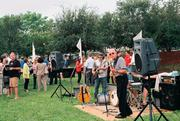 The RJ Howson Band at Riverwalk's groundbreaking at Rossi Waterfront Park.
