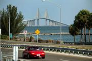 The Sunshine Skyway Bridge shot from the Manatee side looking west.