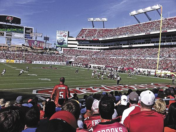 Concessions and team store sales at Raymond James Stadium lag far behind other National Football League stadiums.