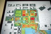 USF St. Petersburg's map of the campus. Red squares are new construction and future development. New classrooms and other student spaces are also planned.