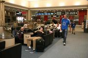 Tampa International Airport's new furniture allows passengers to plug in their devices while they relax.