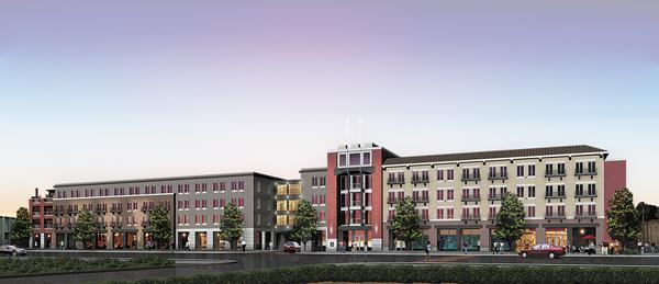 A rendering shows The Epicurean Hotel to be built on Howard Avenue across from Bern's Steak House.