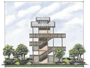 Leading the effort to raise funds for the project is Friends of the Island Parks, a nonprofit formed in the early 2000s to support Honeymoon Island and Caladesi Island. At left, a rendering of the proposed tower.