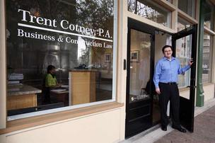 Lawyer Trent Cotney's new office is accessible for construction law clients.
