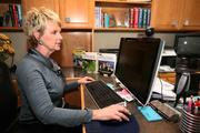 Bobbie Ayers is president of VisApp LLC, at work in her home office in Sarasota.