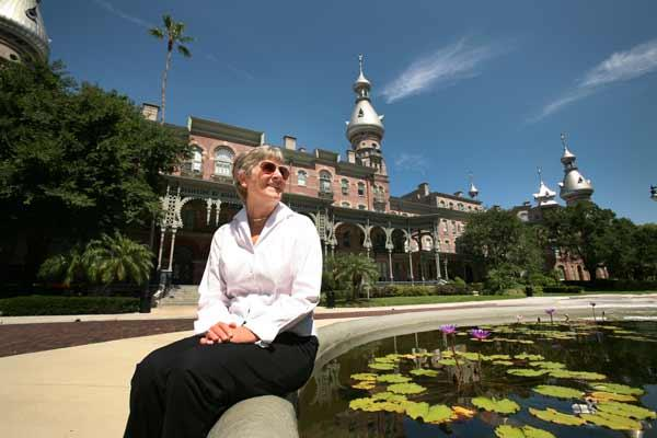 Karn Clark, president of BayArea Destination Management Inc., brings tours to the University of Tampa and Plant Museum to showcase the Tampa Bay area.