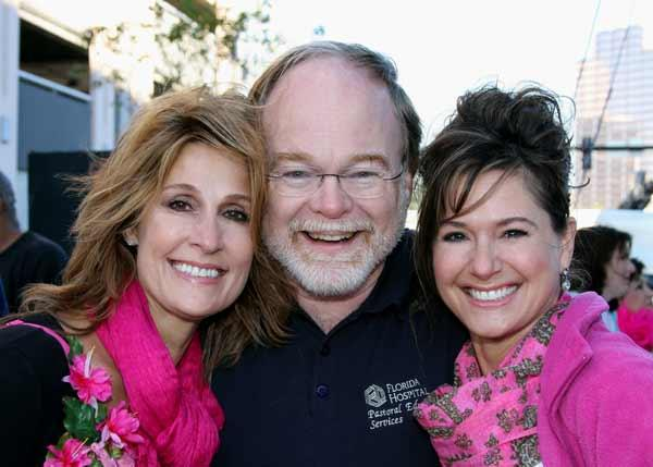 Shelby Coriaty, left, with Peter Bath, vice president, mission, Florida Hospital Tampa Bay division, and Lauren Key, vice president, marketing, Florida Hospital Tampa