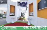 Girls from the Girl Scouts of West Central Florida met with architects and designers to help create what will be a dedicated STEM space in the organization's new Tampa Leadership Center. The design progressed from ideas on a white board into renderings by the designer.