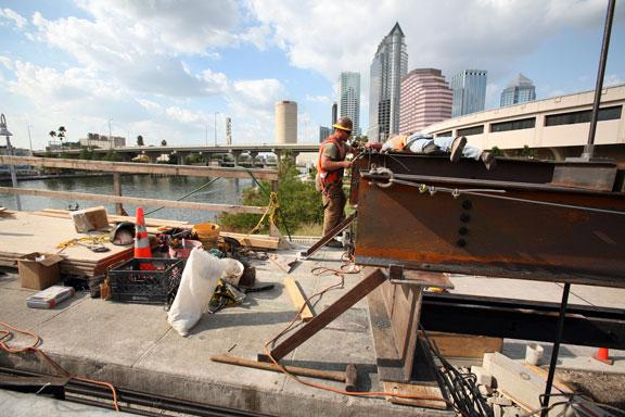 Repairs being made to the Platt Street bridge are an example of government spending.