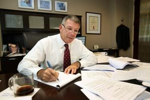 Robert Soriano, shareholder and attorney with Greenberg Traurig PA, in his office.