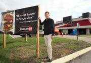 Dan Stone, vice president of franchise development for Front Burner Brands, at the Burger 21 under construction in Carrollwood.
