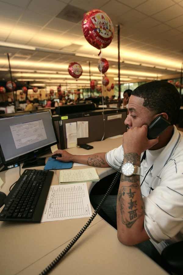 Reginald Washington, verification representative, was hired four months ago at CareCentrix in Tampa.