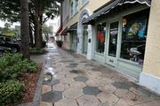 Rainy day scenes along Central Avenue in St. Petersburg.