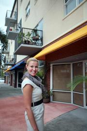 Kristin McGill, owner of K Studio Design in St. Petersburg, lives above her interior fashions and design studio at 1010 Central Ave.