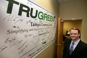 TruGreen's director Jeff Walter at the Tampa Contact Center located in Netpark.