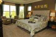 Interior of a model home by David Weekley Homes.