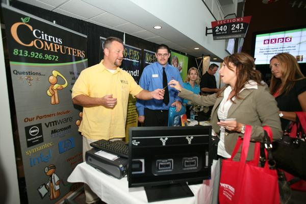 Vendors and attendees at the 2011 Business Growth Expo, hosted by the Tampa Bay Business Journal.