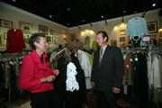Barbara Smith, owner of designer consignment boutique 2nd Ann Rose, speaks with David Neff of JSS Realty Corp.