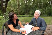 At Novus Medical Detox Center, Kim Grant, accounting manager, works with Kirk Burness, director.