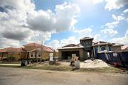 Country Club East's on-going construction of homes.