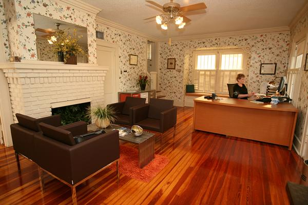 Kathleen Neely, office manager of Graham-Booth Landscape Architecture, in the firm's St. Petersburg offices, which were converted from a home.