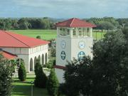 The view of the Pasco County hills from the top floor of the Donald R. Tapia School of Business at St. Leo University.